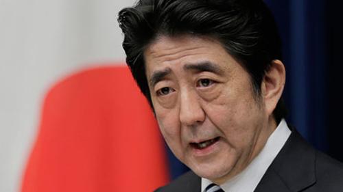 Thủ tướng Shinzo Abe phát biểu tại Hội nghị Sangri-La. Ảnh Reuters
