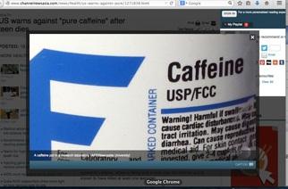 Dùng bột caffeine nguyên chất, coi chừng tử vong
