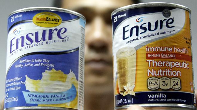 Nhập nhèm sữa Ensure nhãn vàng và nhãn xanh
