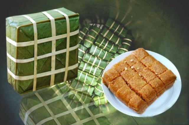 Bánh chưng gấc hấp dẫn cho ngày tết