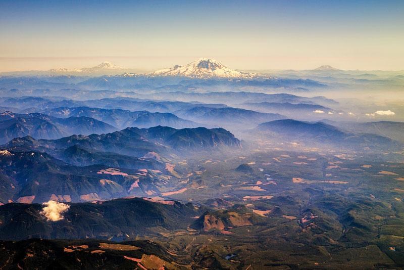 Dãy núi Rainier.