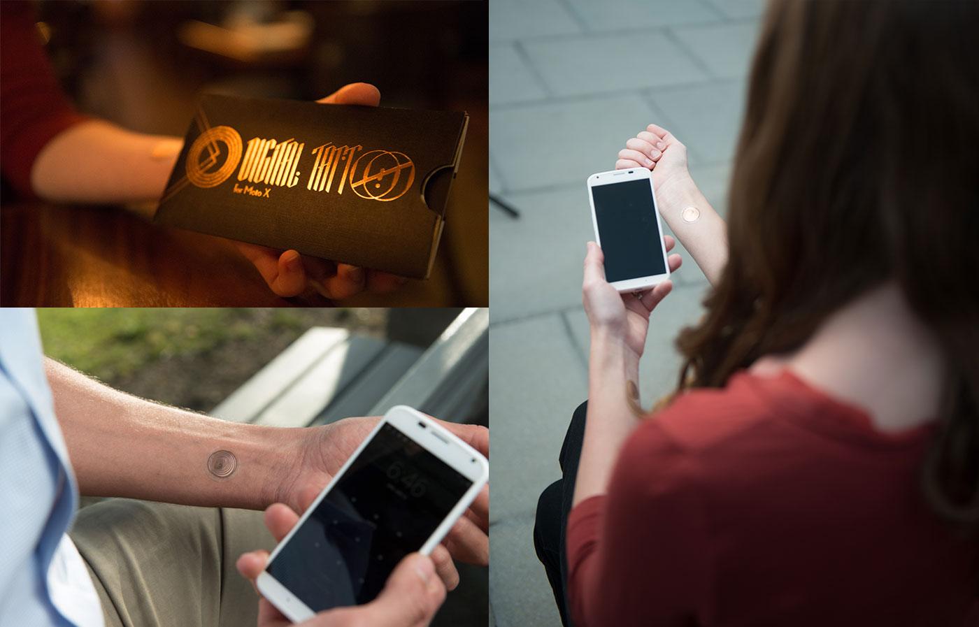 Mở khóa điện thoại bằng hình xăm số Digital Tattoo