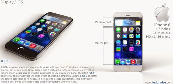 Camera chính với công nghệ chống rung quang học. Phần đèn flash trên concept iPhone 6 này có nhiều điểm tương đồng với iPhone 5S, trong khi đó ở những mô hình thực tế rò rỉ, phần đèn flash nhỏ hơn rõ rệt và mang hình dạng tròn.