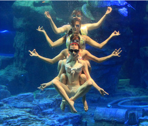 Tập Yoga giảm cân ngay dưới nước