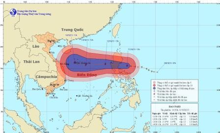 Nếu có bão số 11 có thể nó sẽ vào Quảng Bình-Huế