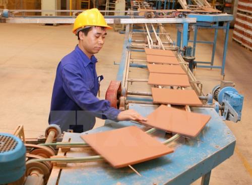 Dây chuyền sản xuất gạch của Viglacera Hạ Long