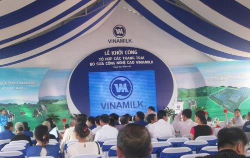 Lễ khởi công tổ hợp trang trại chăn nuôi bò sữa áp dụng công nghệ cao của Công ty sữa Vinamilk