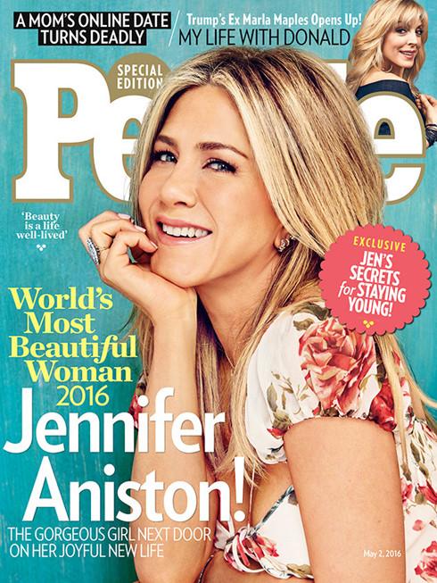 Vợ cũ Brad Pitt trở thành người phụ nữ đẹp nhất thế giới 2016