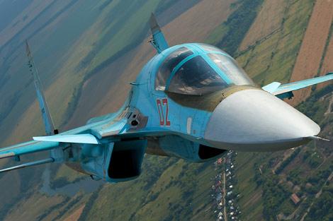 Máy bay Su-34 được trang bị nhiều vũ khí quân sự hiện đại