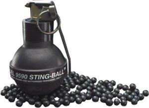 Là một vũ khí phi sát thương, Stingball chứa đầy các viên bi cao su, thứ sẽ gây ra những vết bầm tím nếu vô tình trúng phải