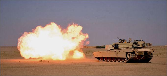 Xe tăng M1A1 Abrams là loại vũ khí quân sự phổ biến của lính thủy đánh bộ