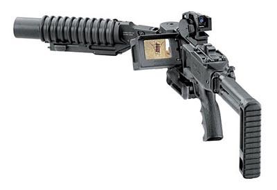 Thiết kế và tính năng độc đáo trong tác chiến đã làm nên tên tuổi cho loại vũ khí quân sự súng phóng lựu Corner Shot Launcher