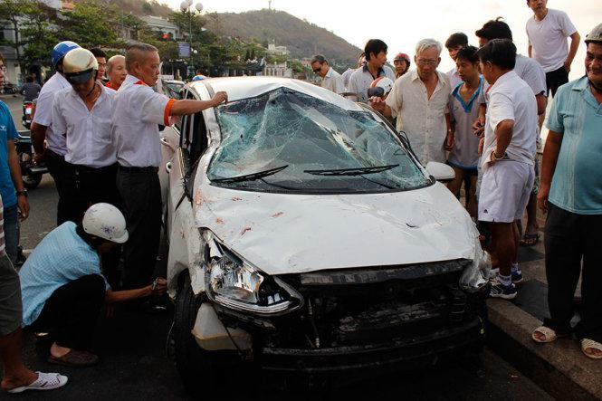 Chiếc taxi sau vụ tai nạn