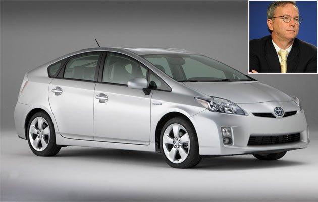 Tỷ phú khủng lái xế rẻ: Eric Schmidt sở hữu một chiếc Toyota Prius với giá 16.500 euro. Ảnh minh họa