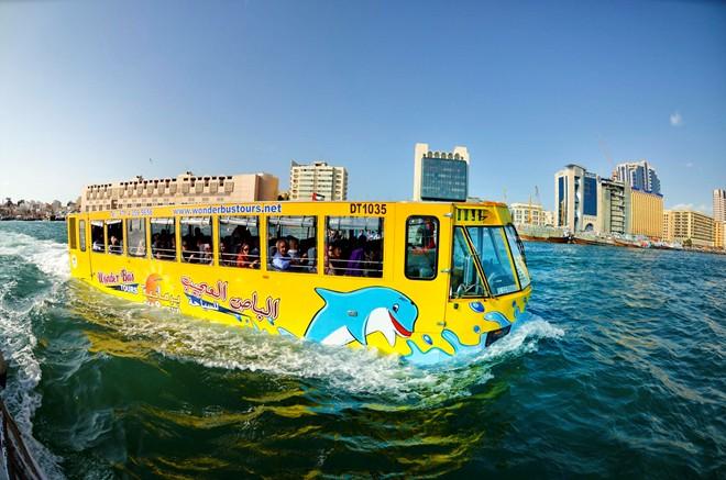 Xe buýt lưỡng cư chạy dưới nước tại Hàn Quốc