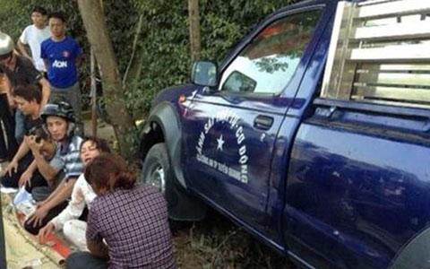 Hiện trường vụ xe công an gây tai nạn chết người ở Tuyên Quang