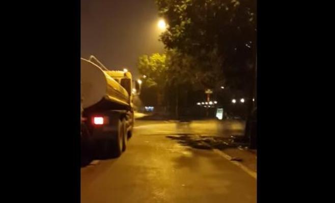 xe môi trường rửa đường
