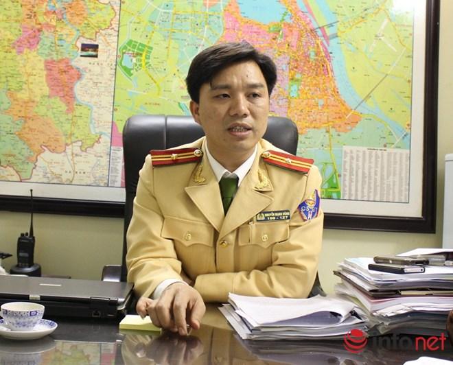 Thiếu tá Nguyễn Mạnh Hùng, Phó Phòng CSGT, Công an Hà Nội.