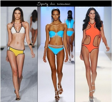 Phong cách thể thao đã mang đến sức sống mới cho những bộ bikini với những đường cut gọn gàng, mạnh dạn