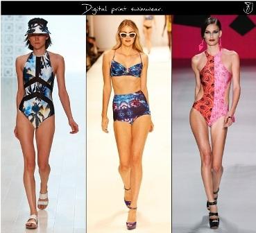 Lấy cảm hứng từ xu hướng thời trang đường phố, những bộ đồ bơi in hình họa tiết điện tử sắc nét và đầy lohic trên bikini tiếp tục làm mê hoặc phát đẹp trong mùa hè này