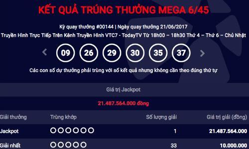 Xổ số Vietlott: Jackpot lại 'nổ' thêm một người Hà Nội 'ẵm' hơn 21 tỷ