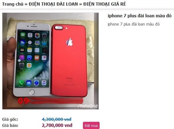 'Choáng' với iPhone 7 giá rẻ bán tràn lan trên mạng