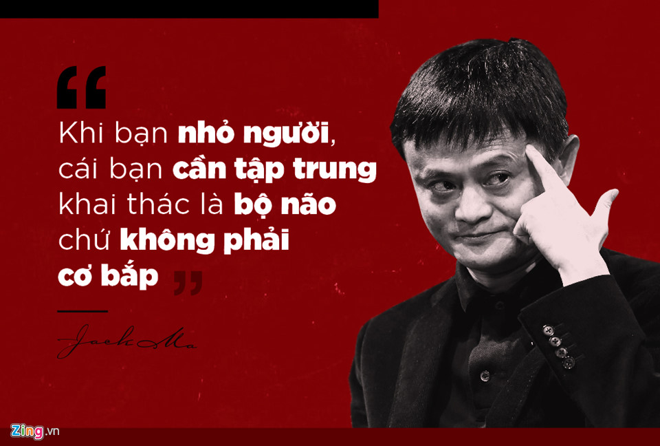 Jack Ma cho rằng nếu muốn thành công, nên tập trung vào điểm mạnh của bản thân thay vì bận tâm vào điểm yếu.