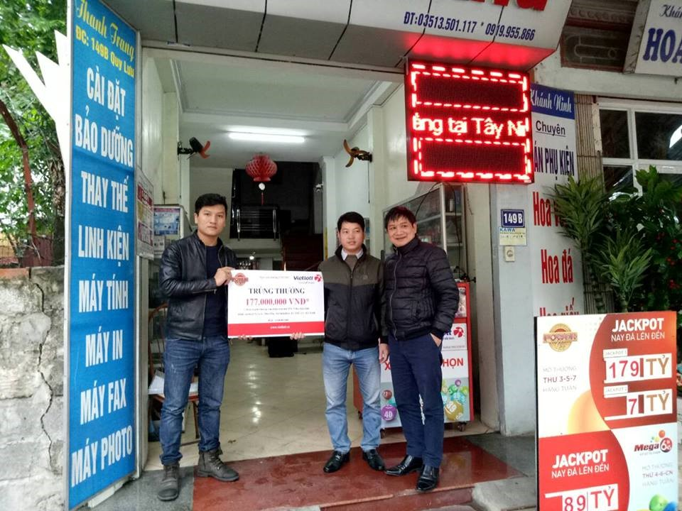 Xổ số Vietlott: Khách hàng tại Hà Nam nhận thưởng 177.000.000 đồng