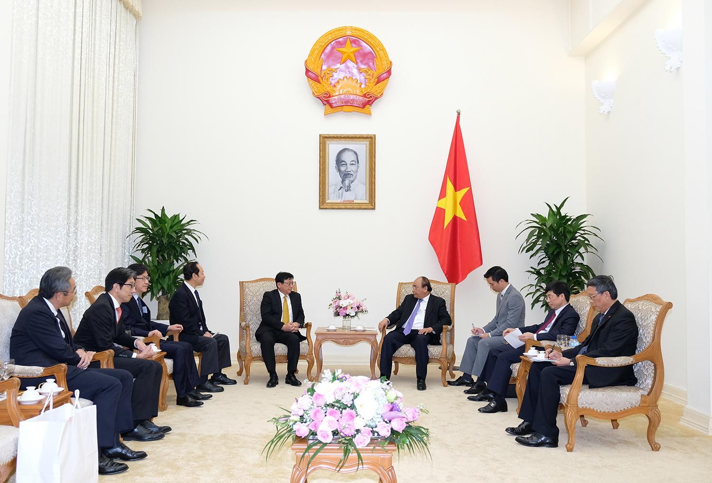 Thủ tướng Nguyễn Xuân Phúc tiếp Chủ tịch Tập đoàn Sojitz (Nhật Bản)