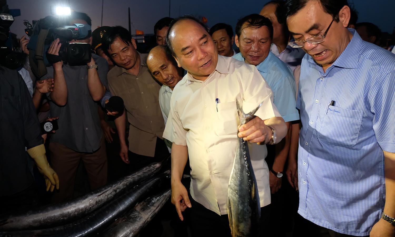 Thủ tướng mua 10 kg cá của ngư dân vùng sự cố biển dùng bữa tối