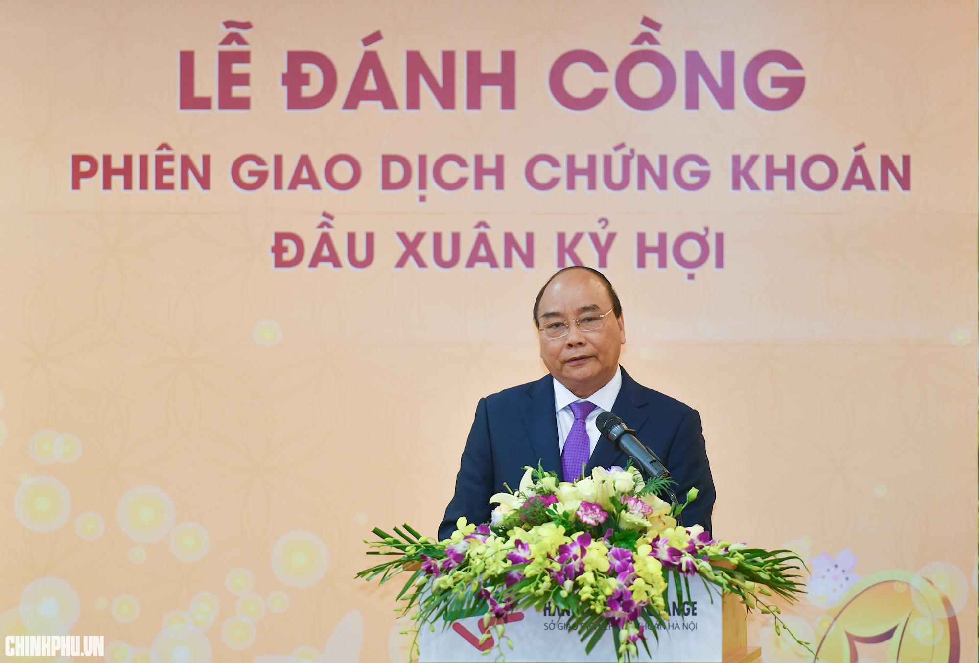 Thủ tướng Chính phủ khai trương phiên giao dịch chứng khoán đầu Xuân