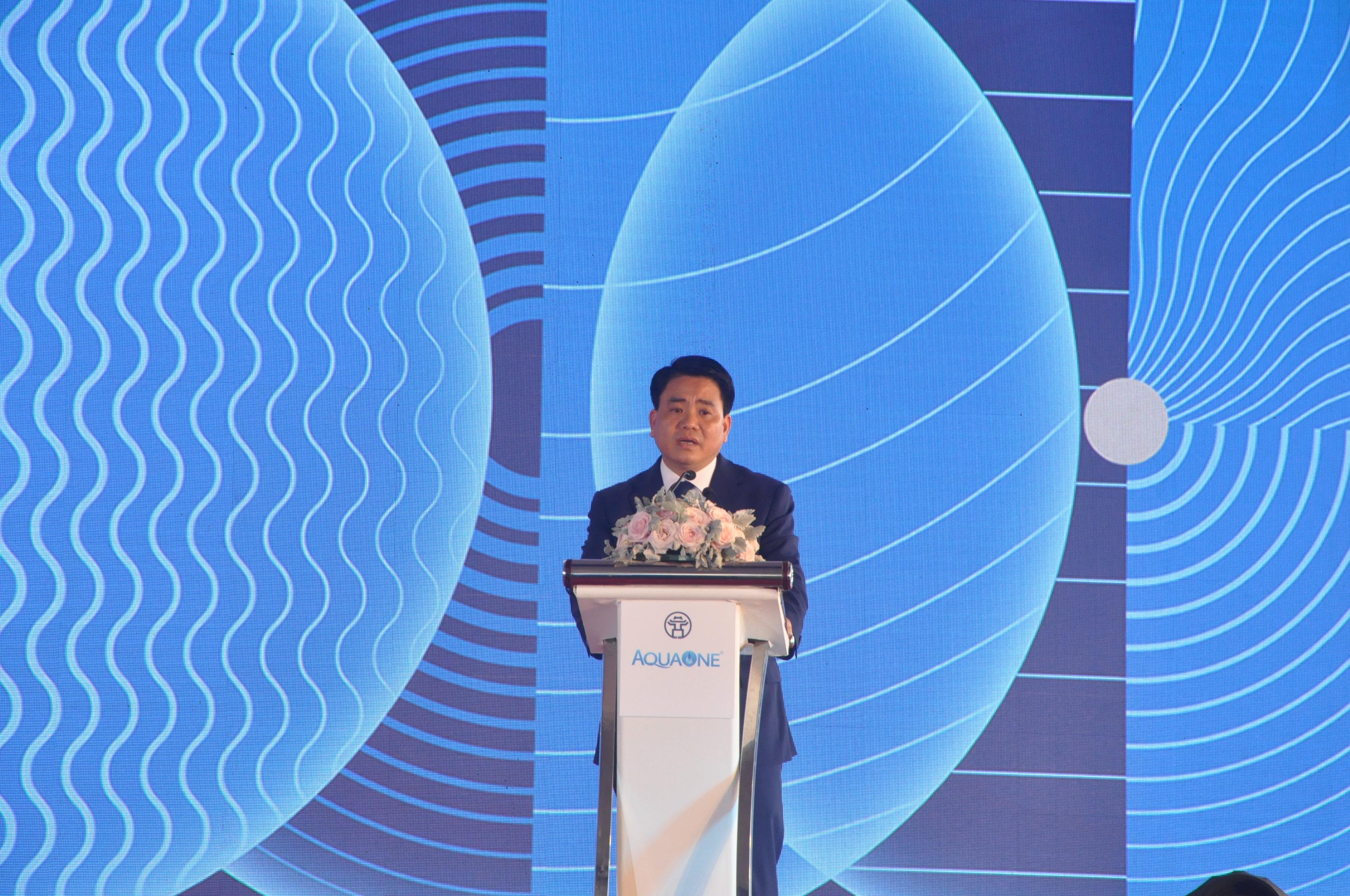 Chủ tịch Nguyễn Đức Chung dự khánh thành giai đoạn 1 Nhà máy nước mặt sông Đuống