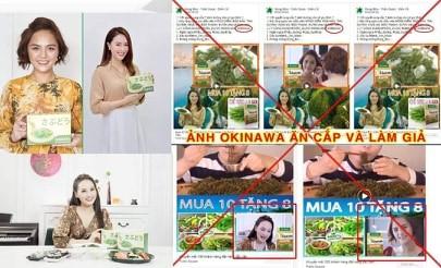 Sử dụng trái phép hình ảnh nghệ sĩ để quảng cáo, rong nho Okinawa đang lừa dối người tiêu dùng