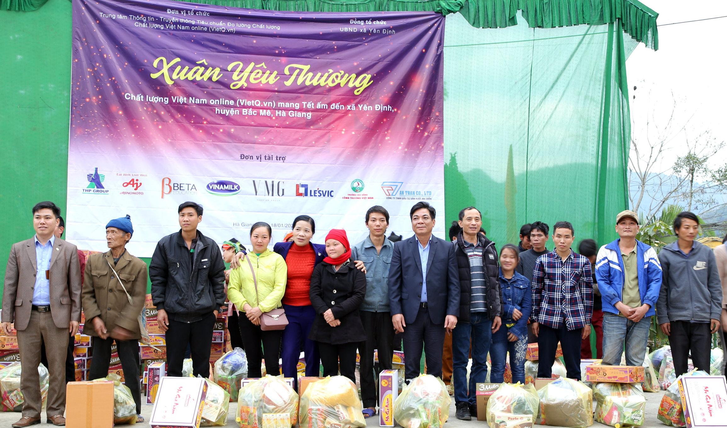 Chất lượng Việt Nam Online phát động chương trình 'Tết ấm cho người nghèo' huyện Võ Nhai, Thái Nguyên