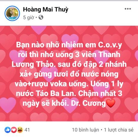 Uống 3 viên 'Thanh Lương Thảo' sau 3 ngày khỏi COVID-19?