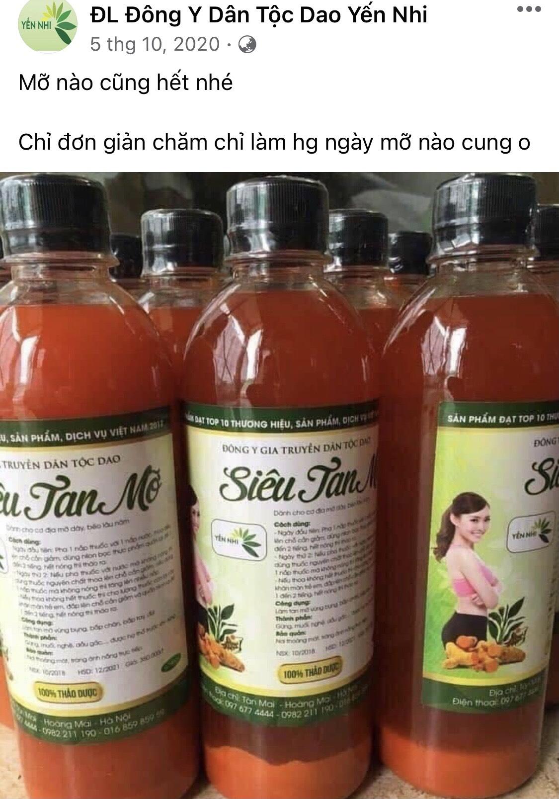 Đông y Yến Nhi quảng cáo, tư vấn thực phẩm bảo vệ sức khỏe là thuốc đặc trị bệnh