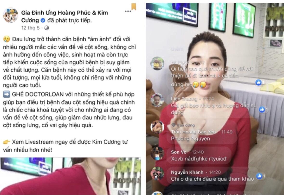 Vợ chồng ca sĩ Ưng Hoàng Phúc 'nổ' quảng cáo ghế thư giãn công dụng trị bệnh lừa dối người tiêu dùng?