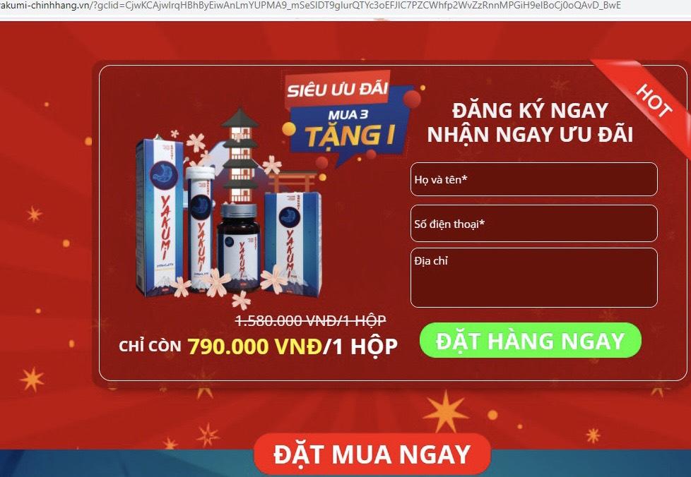 Sản phẩm YAKUMI: Nhà máy vẫn sản xuất, Công ty CP Dược phẩm KINGKAO khằng định vẫn quảng cáo, bán sản phẩm