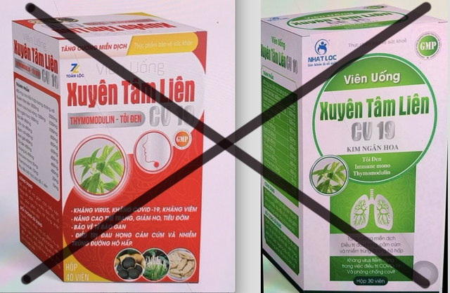 Bộ Y tế đã có cảnh báo về 2 sản phẩm xuyên tâm liên giả mạo công dụng phòng chống COVID-19
