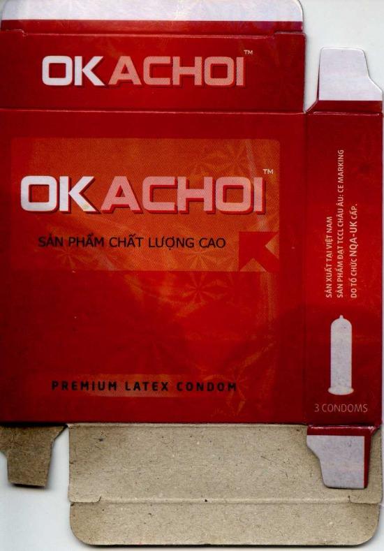 Nhãn hiệu OKACHOI được làm nhái sản phẩm bao cao su OK