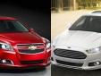 Sedan hạng trung Chevrolet Malibu và Ford Fusion 'gây chiến'