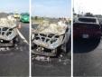 Ô tô cháy ngùn ngụt như cột đuốc trên cao tốc Long Thành - Dầu Giây