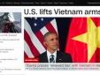 Báo quốc tế nói gì về việc Mỹ dỡ cấm vận vũ khí với Việt Nam?