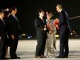 Những hình ảnh đầu tiên của ông Obama ở Nhật Bản