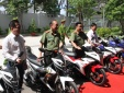 Cận cảnh dàn 100 xe mô tô đặc chủng chuyên bắt cướp của CA TP.HCM