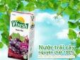 Tặng đĩa thủy tinh cao cấp khi mua nước trái cây Vfresh hộp 1 lít