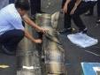 1.000 tấm nghi da trăn khô đi máy bay cập cảng Tân Sơn Nhất