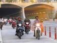 Thay đổi thời gian xe máy lưu thông qua đường hầm vượt sông Sài Gòn