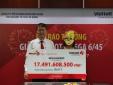 Xổ số Vietlott: Trao giải hơn 17 tỷ đồng cho người phụ nữ đeo mặt nạ