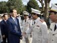 Chủ tịch nước Trần Đại Quang thăm lực lượng vũ trang Thanh Hóa